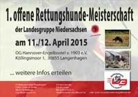 Die Rettungshunde Meisterschaft im Jahre 2015 in unserer OG Hannover Engelbostel von 1903 e.V.